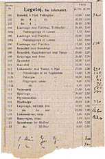 1934 Price list. Click for a larger image