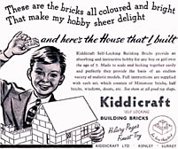 Self-LOcking Building Brick Ad. Click for a larger image