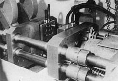 The first Injection Machine, 1949. Click for larger image
