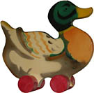 Wooden Mallard Duck. Click for a larger image