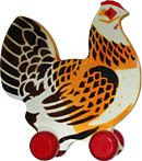 Wooden Rooster. Click for a larger image